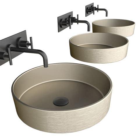 Metal Sink Pert Rho Metal Brushed Platinum Vessel Sink Modern