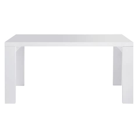 ASPER 6 seat white high gloss dining table   Buy now at