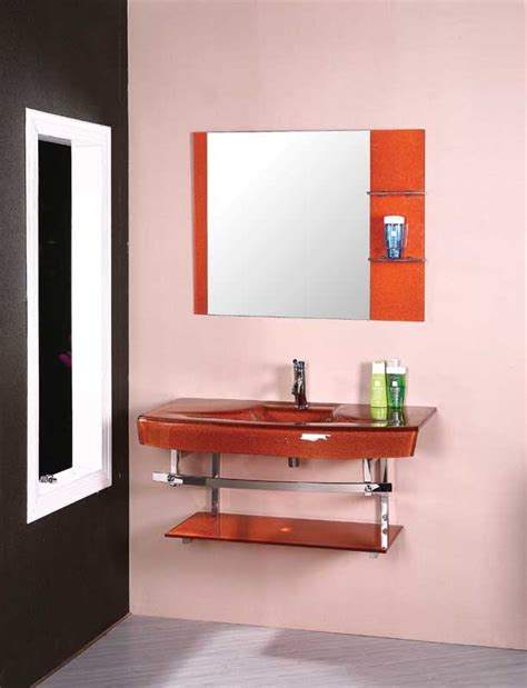 orange bathroom cabinet china orange color glass basin bathroom vanity cabinet 5166 china glass basin