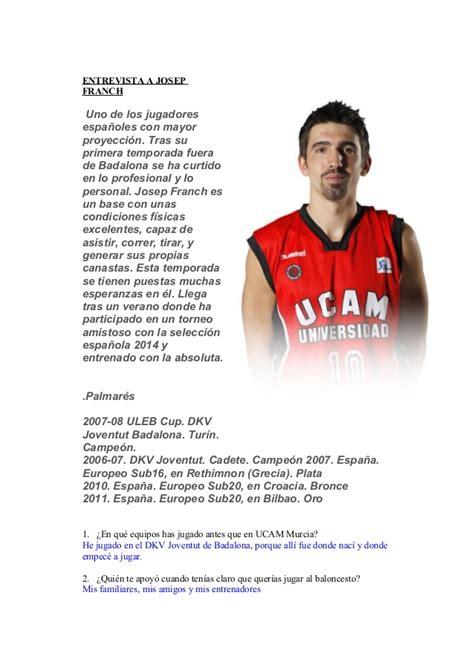 preguntas para entrevista jugador futbol entrevista jugadores baloncesto