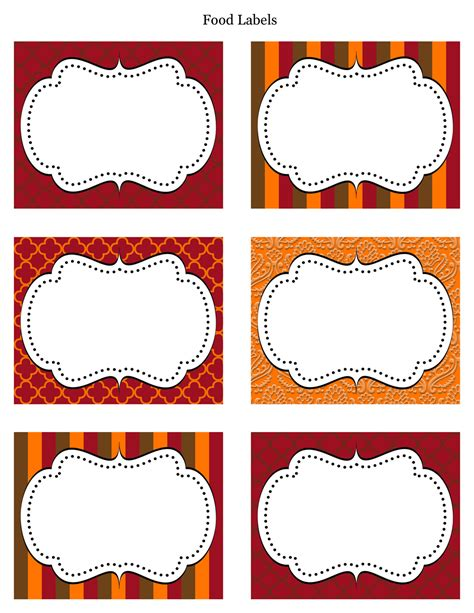 label stickers templates free printable food label templates