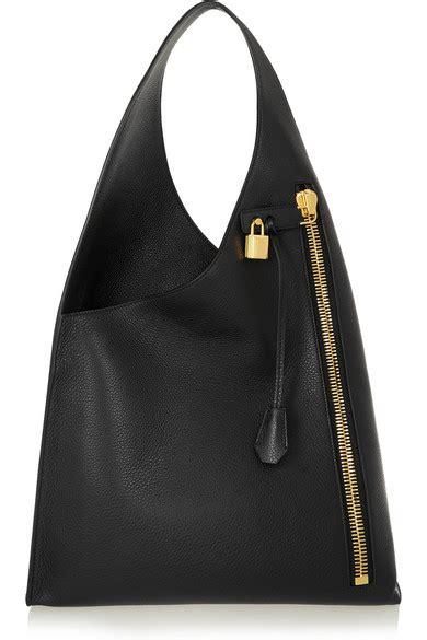 Tom Ford Bag by Tom Ford Alix Hobo Textured Leather Shoulder Bag Net A