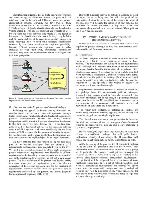 pattern language failure pabre pattern based requirements elicitation