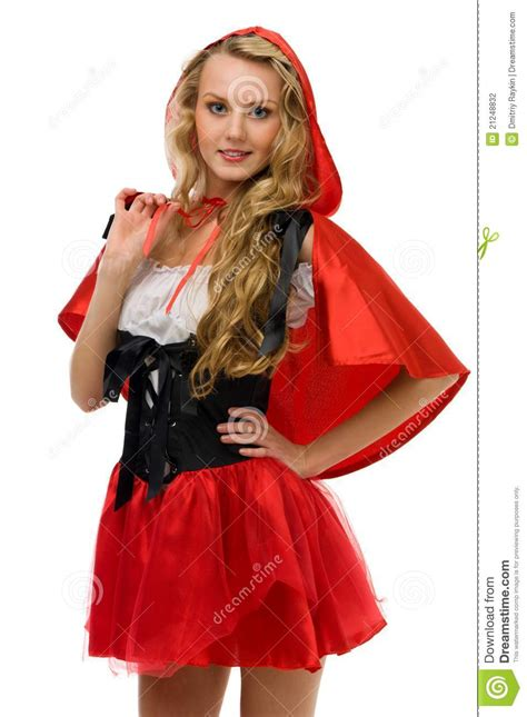 red riding hood 2304 vrouw in carnaval kostuum weinig rode berijdende kap