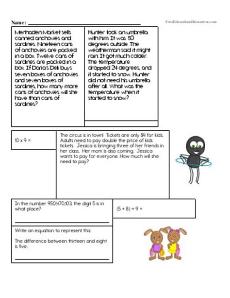 5th Grade Math Review Worksheets by 5th Grade Math Review Worksheets