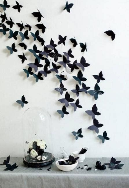 Handmade Butterfly Decorations - handmade butterflies decorations on walls paper craft ideas