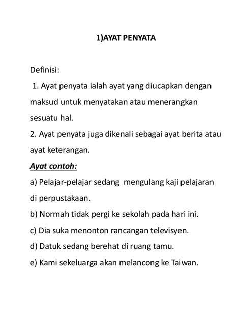 ayat ayat cinta 2 di malaysia jenis jenis ayat bahasa melayu
