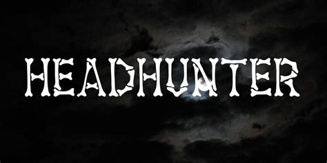 headhunter font 183 1001 fonts