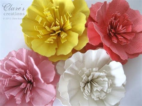 How To Make A Paper Carnation - construction paper flowers ideas diy projects craft ideas