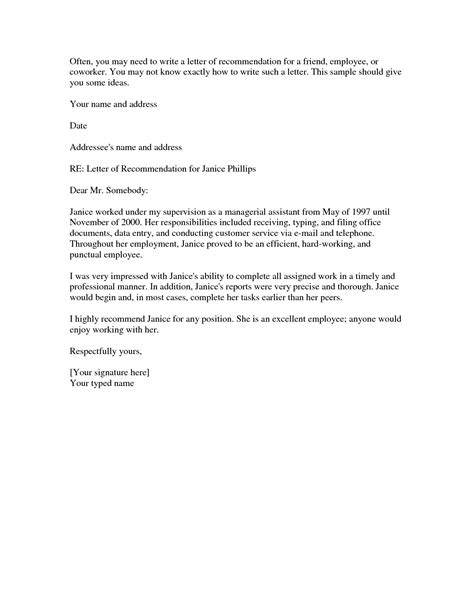 Reference Letter Template Personal Recommendation Letter For A Friend Template Resume Builder