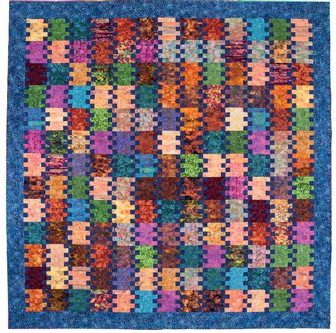 Patchwork Quilt Books For Beginners - simple batik quilt quot railroad quot by terry