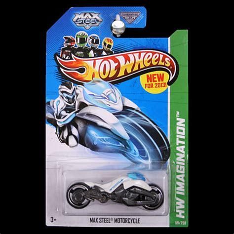 Hotwheels Hw Max Steel Motorcycle 1 wheels 2013 hw imagination max steel motorcycle white