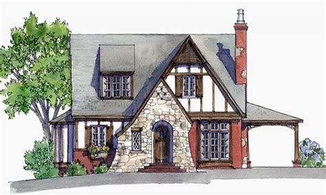 English Tudor Home Small Tudor Cottage House Plans Tiny House Plans Storybook
