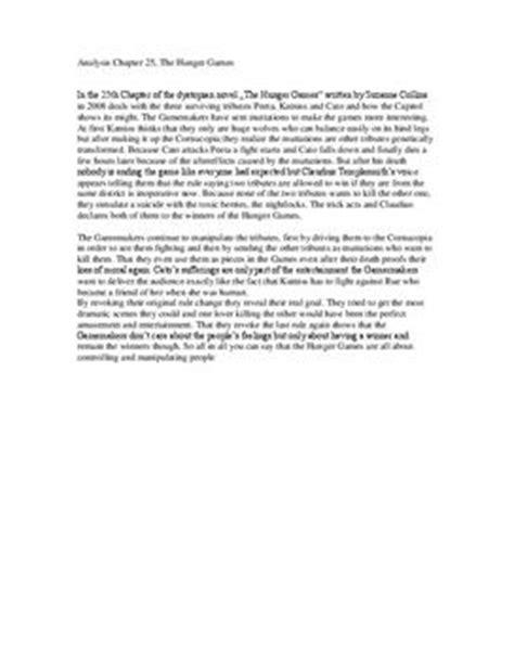 Rechnung Hinf Llig Englisch The Hunger Analyse Des 25 Kapitels Schulhilfe De