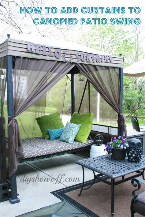 Diy Canopy Bed With Curtain Rods Patio Swing Makeoverdiy Show Off Diy Decorating And