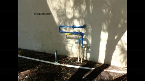 Outdoor Plumbing Supplies Outdoor Plumbing Repair That Can Create Problems Water