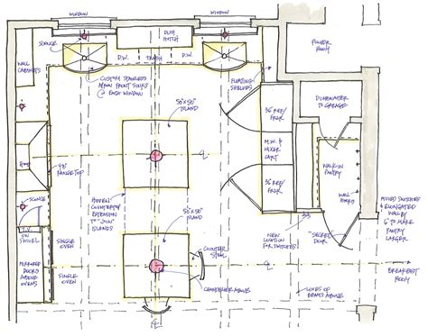 Kitchen Plan Design | amusing kitchen floor plans with island gallery and