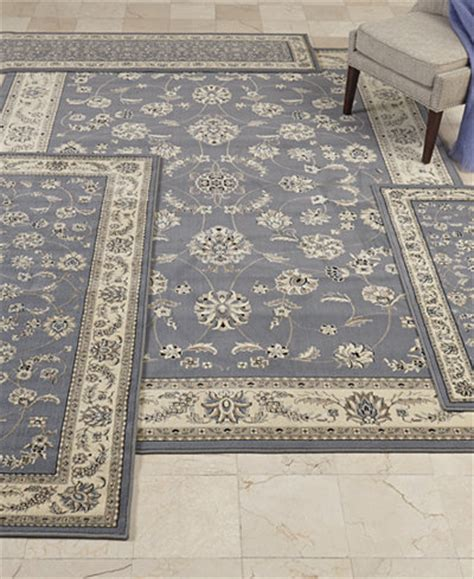 Kenneth Mink Area Rugs Kenneth Mink Florence Collection 4 Pc Set Isfahan Grey Blue Area Rugs Rugs Macy S