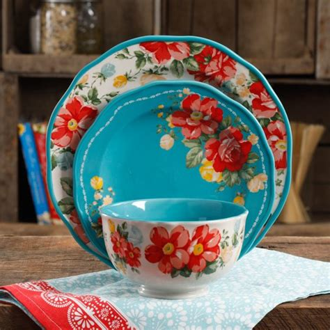 Dish Ceramic Show Canad - the pioneer vintage floral 12 dinnerware set