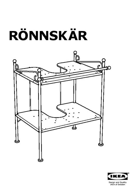 ronnskar sink shelf r 214 nnsk 196 r sink shelf black ikea united states ikeapedia