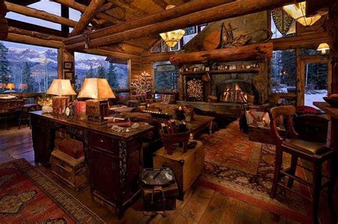 Pictures Of Log Home Interiors Log Home Decor Log House Pinterest Rustic Wood House Design And Luxury Houses