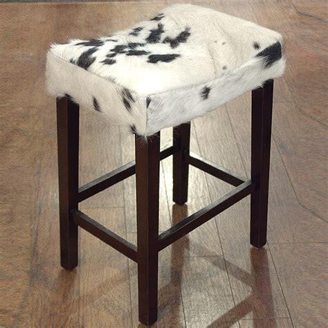 hilason western genuine leather cowhide hair on wooden leg - Cowhide Counter Stools