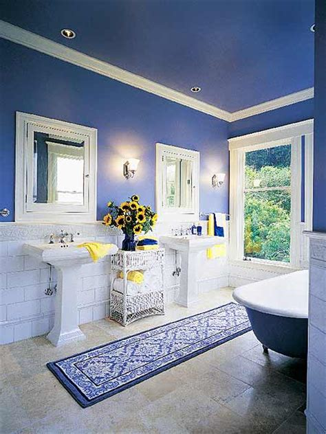 yellow and blue bathroom skarrlette s hammer blue is better