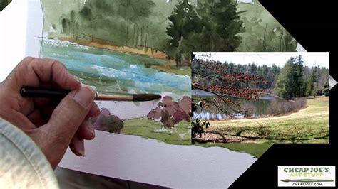cheap joe s watercolor tutorial don getz watercolor techniques artist journal the lake