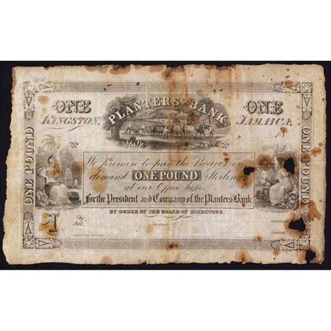 planters bank 1844 issue banknote archives