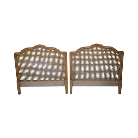 french style cane headboards vintage french louis xv style cane back twin headboards