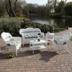 sahara all weather wicker patio set seats 4 modern