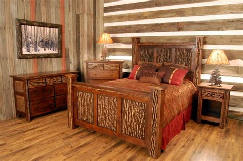 simple  neat cabin bedroom decorating ideas
