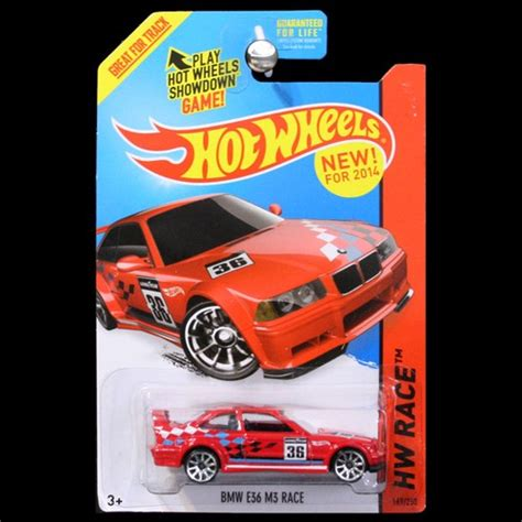 Hotwheels Bmw E36 M3 Race C 443 wheels 2014 hw race track aces bmw e36 m3 race in carminiatures