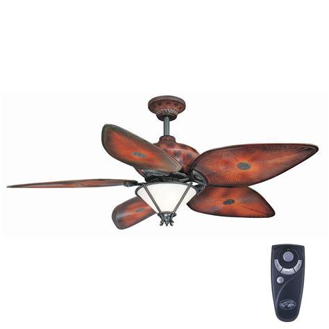 indoor outdoor ceiling fan with light hton bay san lucas 56 in indoor outdoor natural iron
