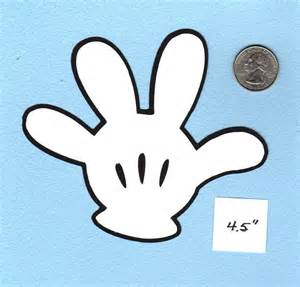 Mickey Mouse Glove Template by Disney Mickey Mouse Glove Die Cuts Multi Sizes Micky