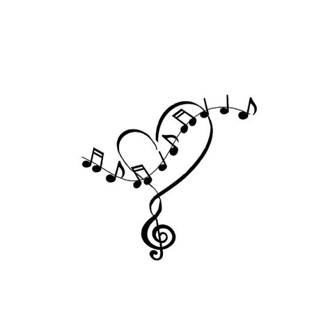 music note heart tattoo designs and notes tattoos