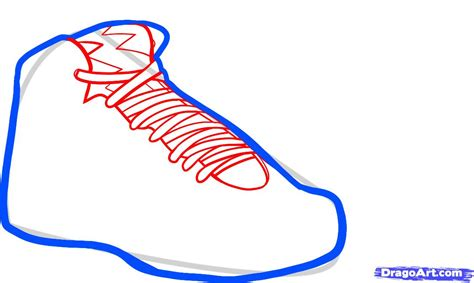 how to draw shoes how to draw air bordeaux air jordans step by step