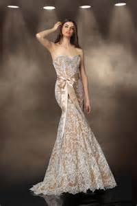 coloured wedding dresses bronze colored wedding dresses cherry