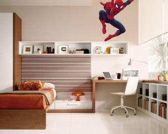 comic strip bedroom gotham city buildings with batman emblem vinyl wall decal
