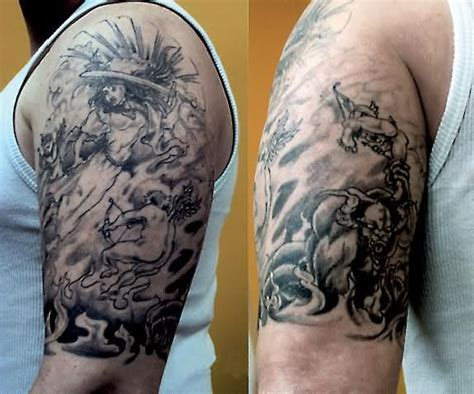 angel and demon fighting tattoos fighting design tattooshunt