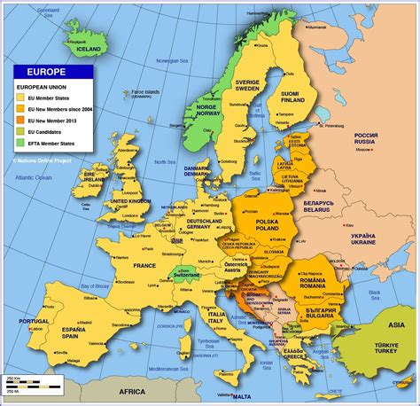 map of countries in europe map of europe member states of the european union