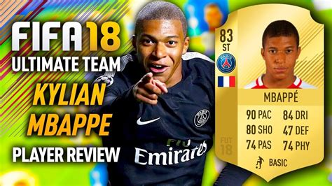 kylian mbappe in fifa 18 fifa 18 kylian mbappe 83 player review fifa 18 ultimate