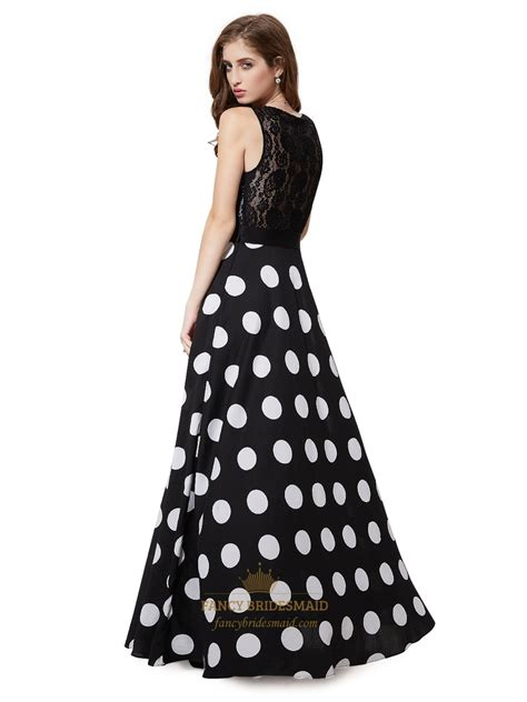 Dress Lace Polka black and white polka dot lace bodice dress with
