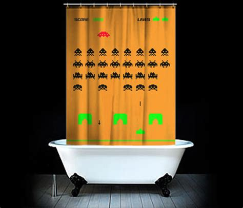 video game shower curtain space invaders shower curtain as elusive as that final