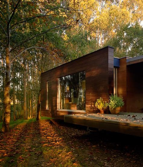 levitating modern house in the forest freshome