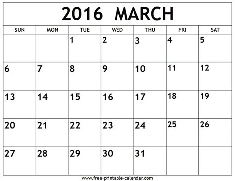 printable daily calendar march 2016 image gallery march 14 2016 calendar