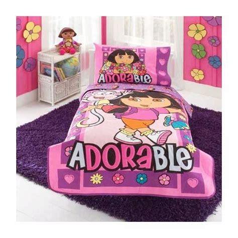 dora the explorer 10 pc toddler bedding set complete