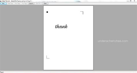 thank you popup card template free a cherry tree free downloads jin s pop up thank