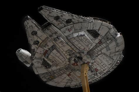 bandai x wars the awakens 1 144 millennium falcon modeled by wtfhi photoreview many