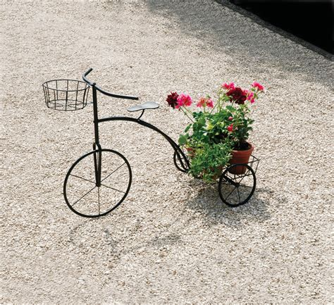 Tricycle Planter by Black Metal Tricycle Plant Stand Garden Planter To Hold Up